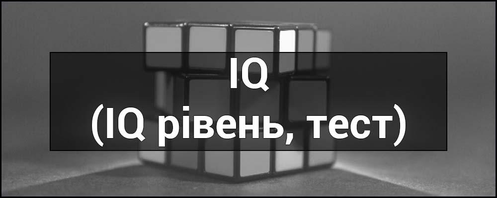 Що таке IQ - це