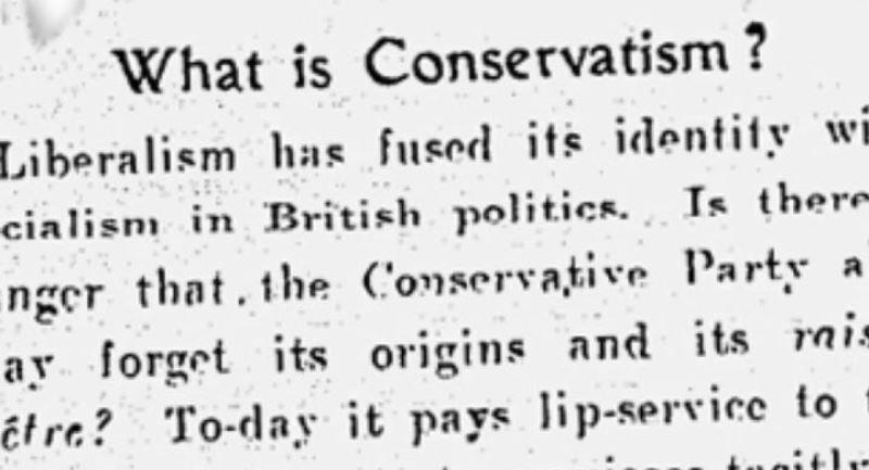 Форми та принципи ідеології консерватизму